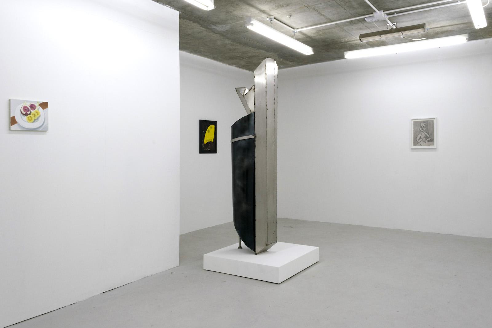 Installation view from Condo 2018 at Union Pacific ChertLüdde (Berlin), Misako & Rosen (Tokyo)and Gregor Staiger (Zurich) hosted by Union Pacific
