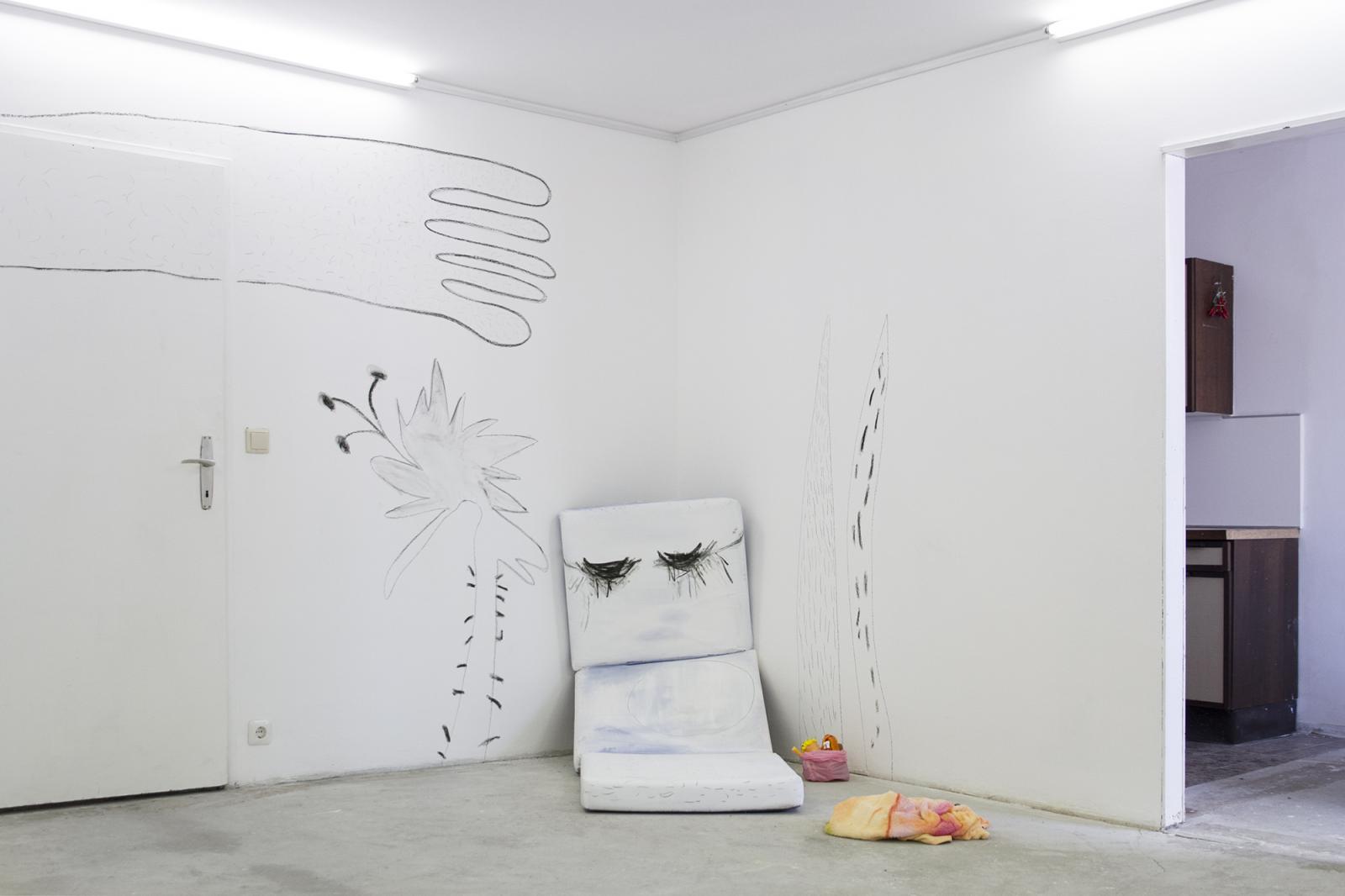"Megan Rooney ""Hullabaloo""(2017); installation view at Cordova Photo: Georg Petermichl"