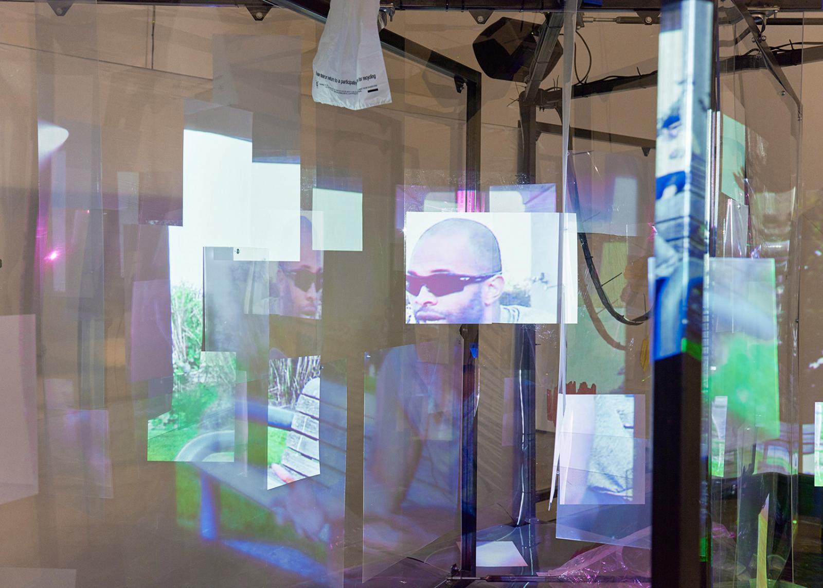 """Neïl Beloufa Ausstellungsansicht """"Projects 102"""" The Museum of Modern Art, New York 2016 Photo:Jonathan Muzikar © 2016 The Museum of Modern Art"""