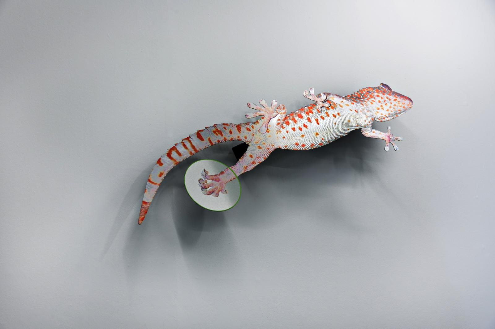 "Katja Novitskova /Approximation/ (gecko), 2016 Installationsansicht ""Dawn Mission"" Kunstverein in Hamburg,2016 Photo: Fred Dott"