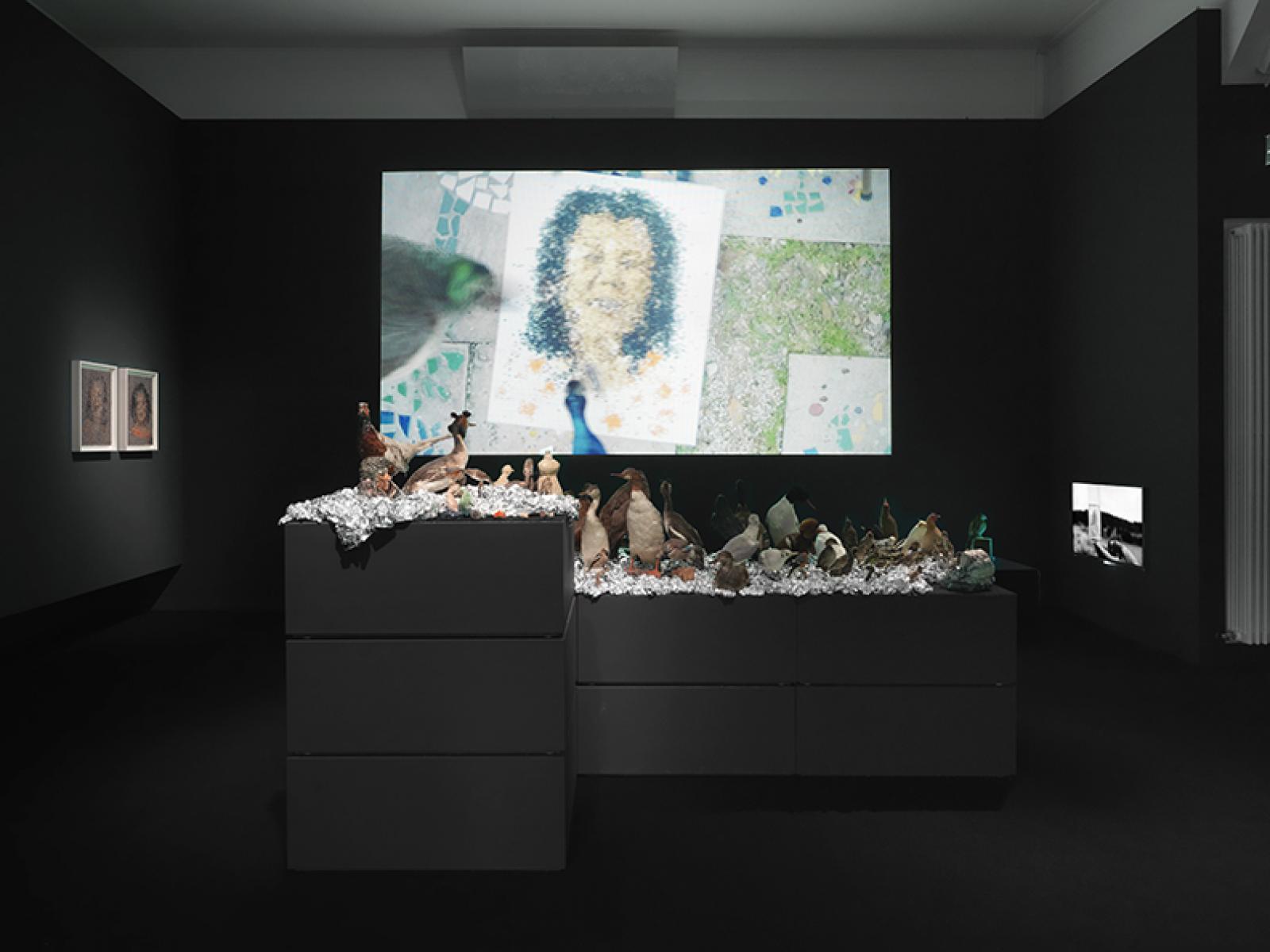 Trisha Baga Installationsansicht /MS Orlando/, 2015 Art Basel Parcours 2016 Photo: Annik Wetter. Courtesy the artist and Greene Naftali, New York