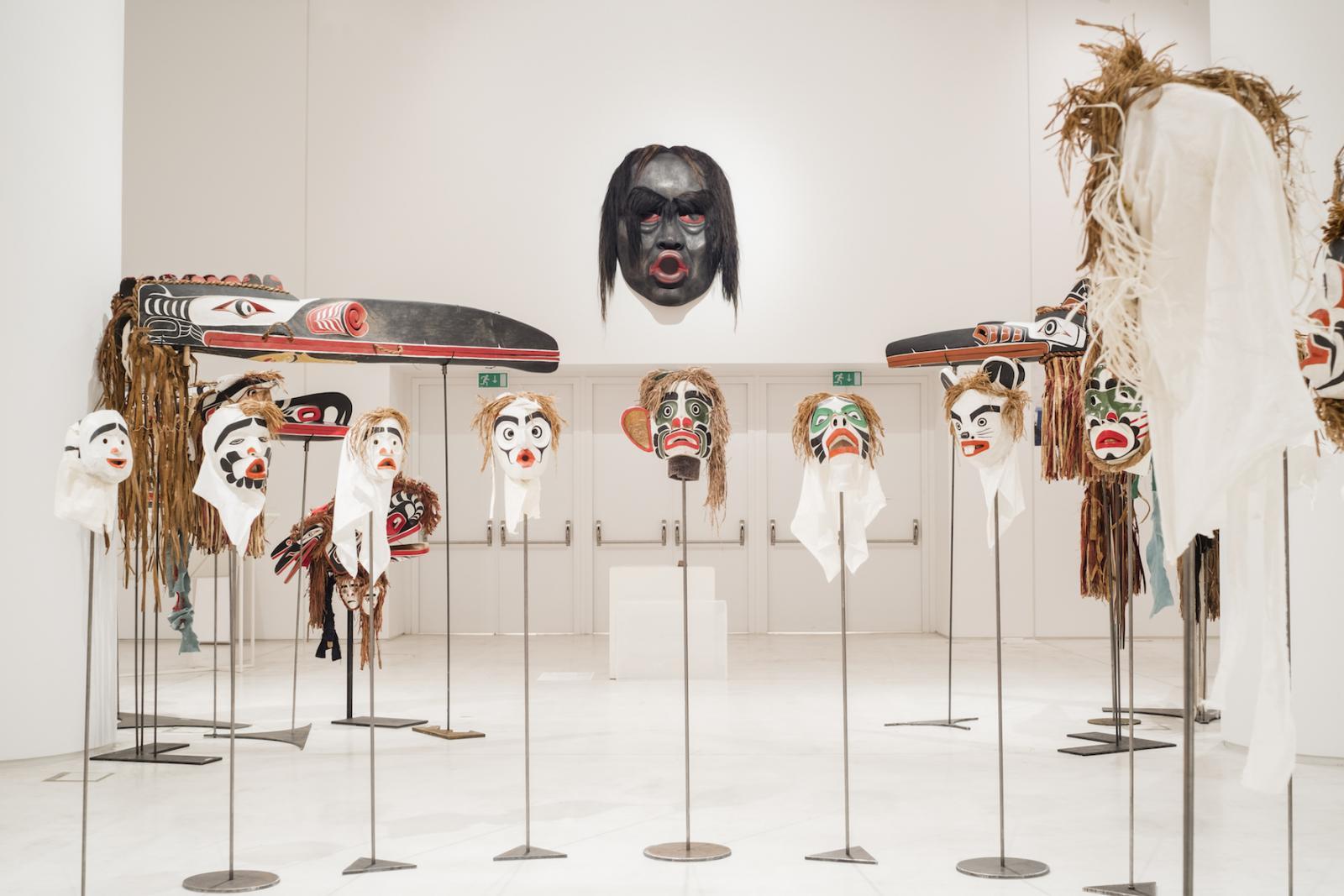 Beau Dick 22 masks from the series/Atlakim/(1990-2012) Photo: Mathias Völzke