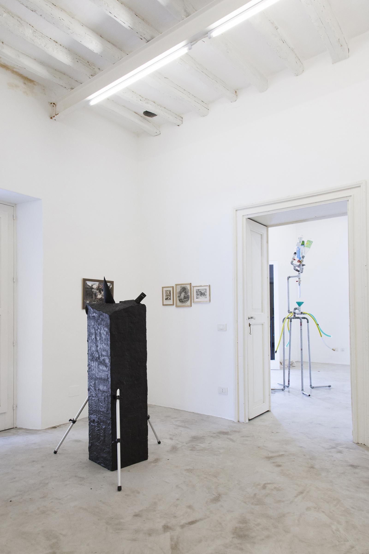 "Isola e Norzi /Elsewhere/, 2008 Telescope, tripod, Plasticine 90 x 90 x 150 cm Installation view ""I Will Go Where I Don't Belong"" Photo:Giovanna Silva Courtesy Fiorucci Art Trust, London"