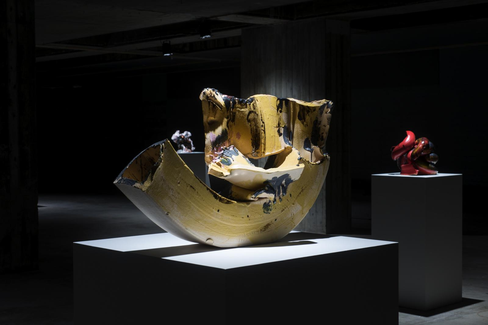Lynda Benglis /Glacier Burger / Installation View (BAS), Bergen Assembly 2016 Photo: Thor Brødreskift