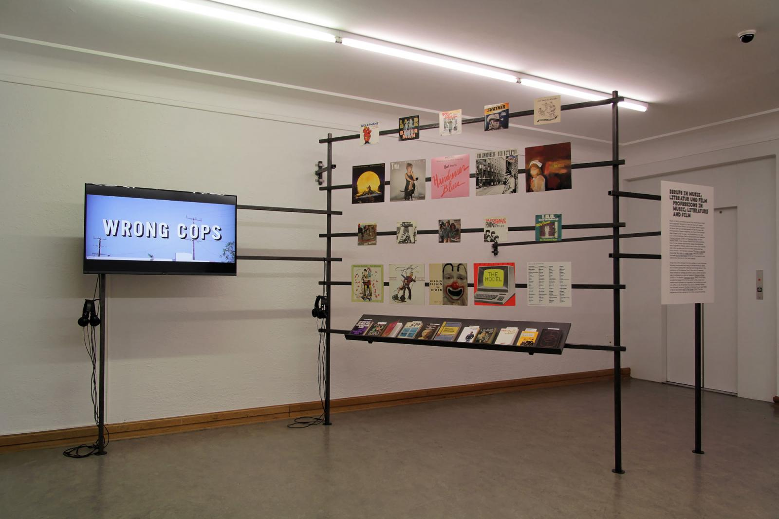 "Installation view ""Professions in Music, Literature and Film"" section at  Helmhaus Photo: Manifesta 11 / Wolfgang Träger"