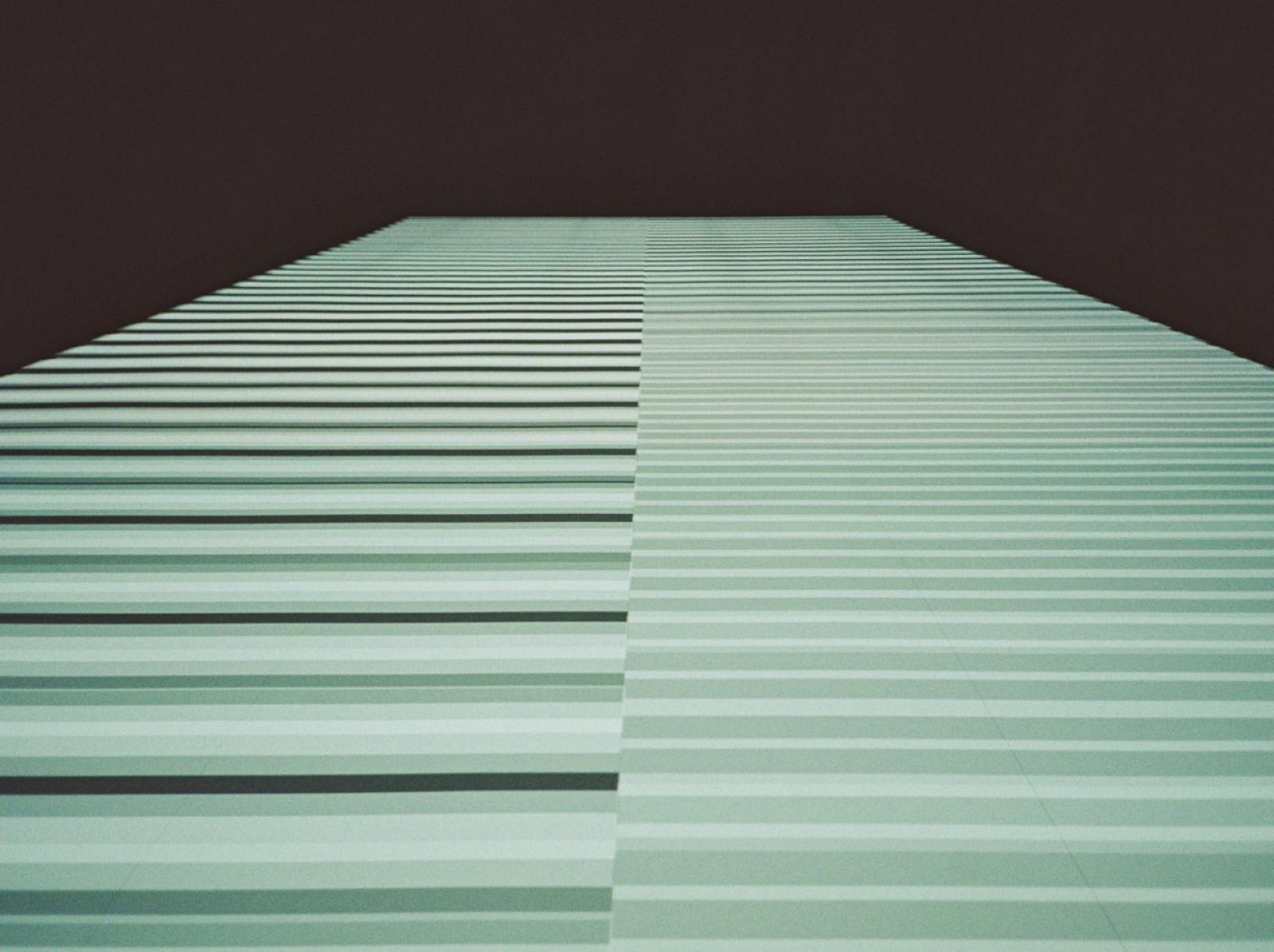 Ryoji Ikeda /test pattern [nº11], 2017/  Computer graphics, programming: Tomonaga Tokuyama