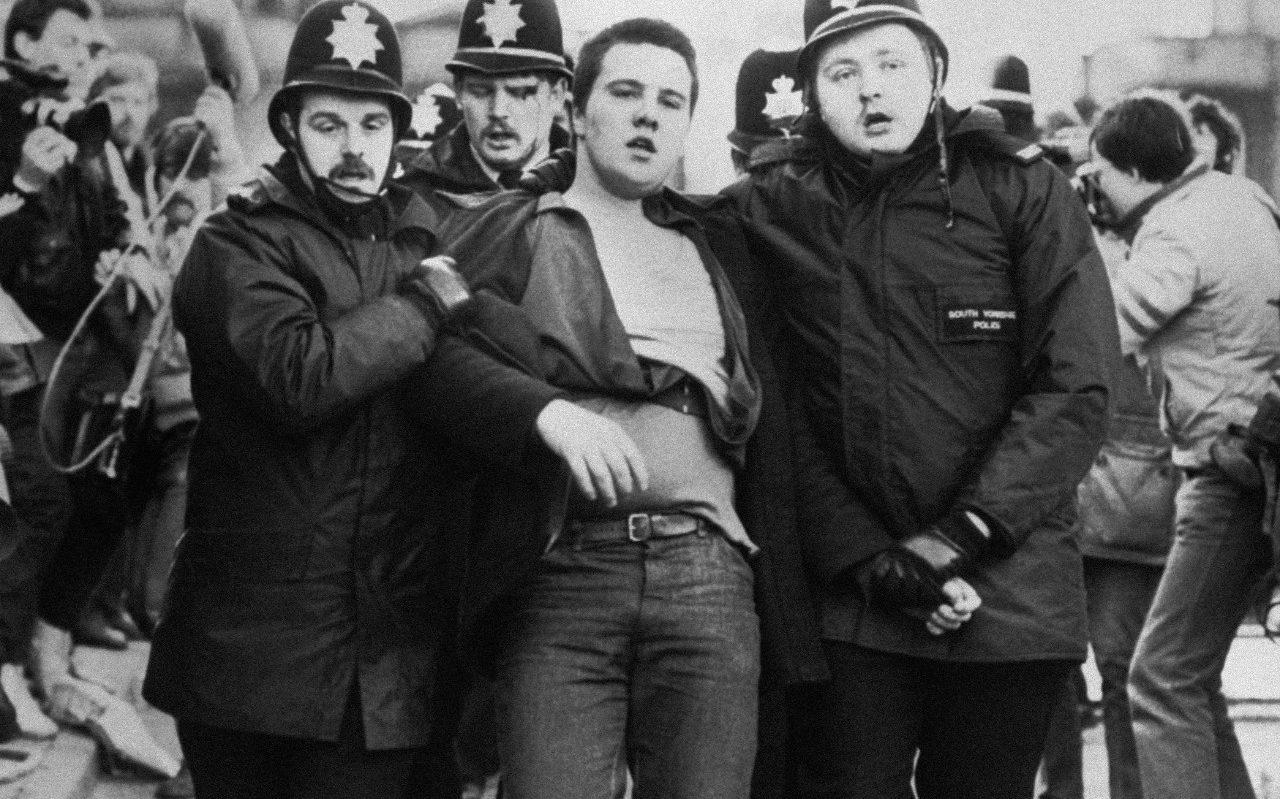 Business Essays Samples Image Of The Battle Of Orgreave A Violent Confrontation Between Police And  Pickets During The Persuasive Essay Sample Paper also Thesis Example Essay Essay The Last Great Era Of Low Selfesteem  Spike Art Magazine Informative Synthesis Essay