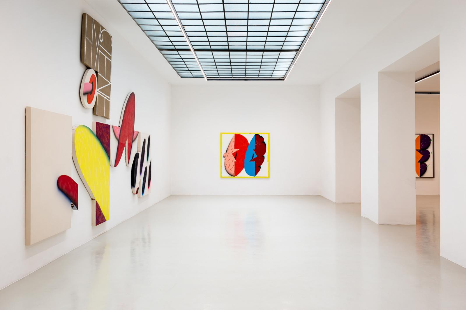 """James English Leary """"The Bursting Grape"""" (2017); installation view at Galerie Lisa Kandlhofer"""