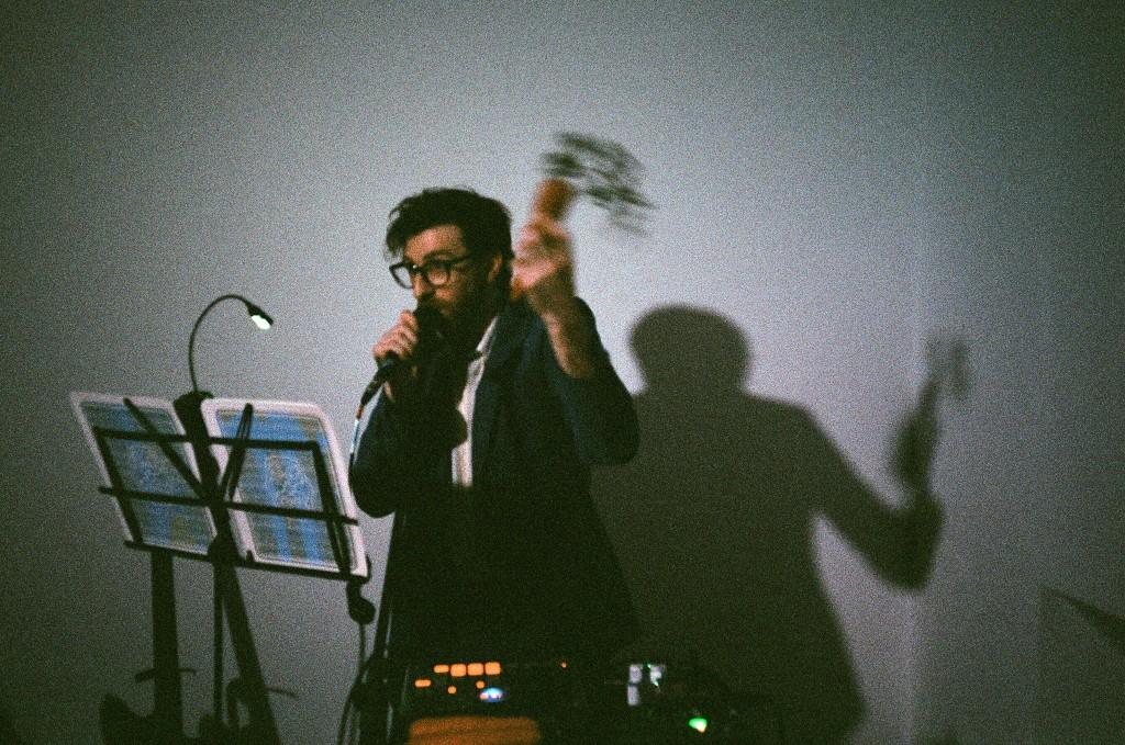 """""""Word of Daucus,Worldof Doubt – a new performance by Nicholas Hoffman""""  at Mauve Photo: Anna Breit"""