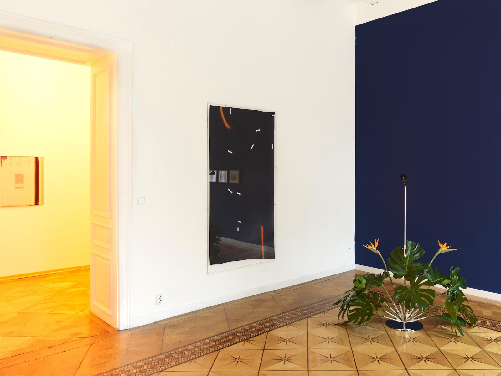 """Left to right: Studio for Propositional Cinema,Mandla Reuter, Irena Haiduk Photo: Pascal Petignat;Courtesy Croy Nielsen, Vienna  """"The Forecast"""" curated by Laura Maclean-Ferris,Croy Nielsen"""