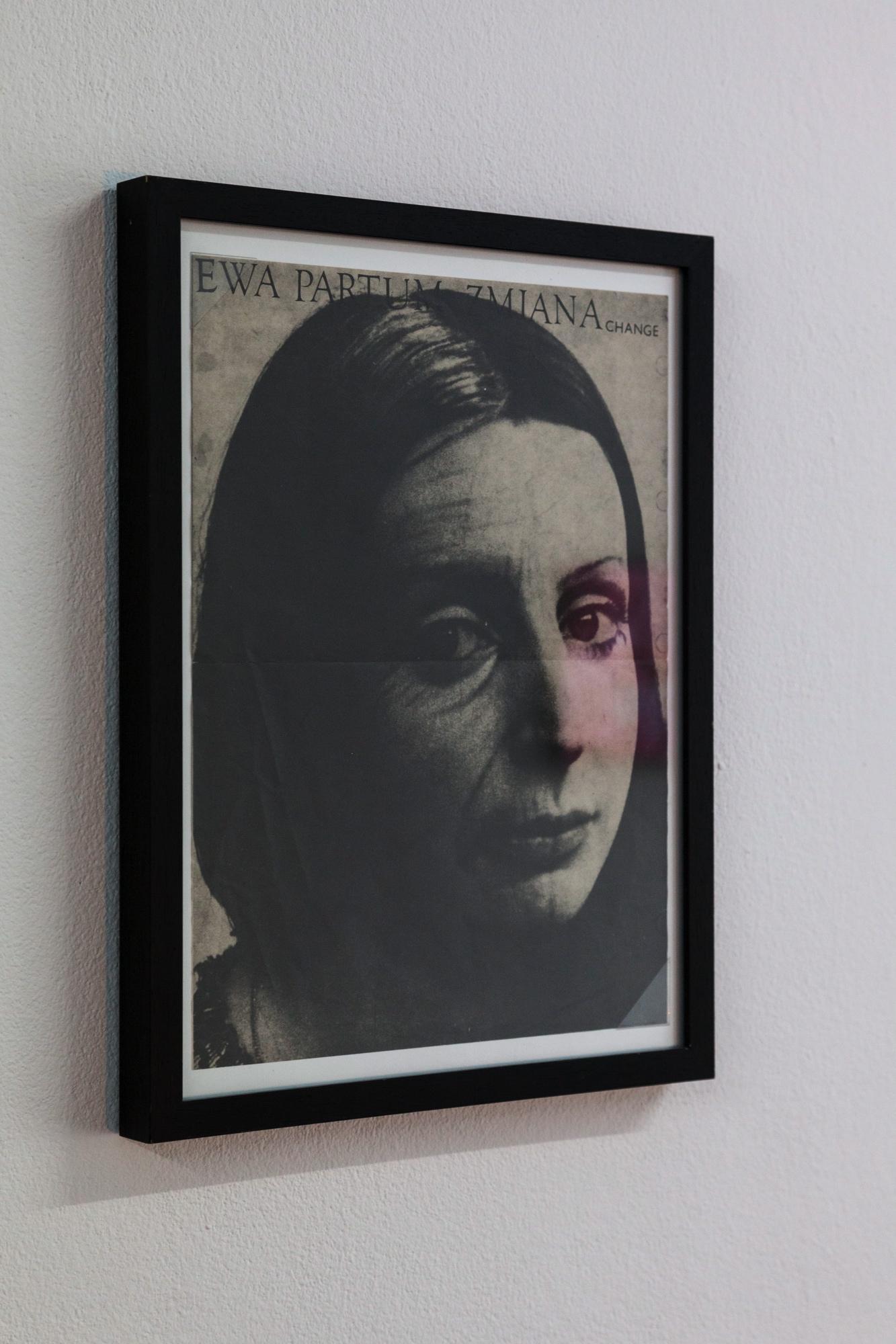 Ewa Partum Zmiana change, 1974,Offsetprint, signed on back, 36,5 x 27,5 cm, framed,  Courtesy M + R Fricke, Berlin