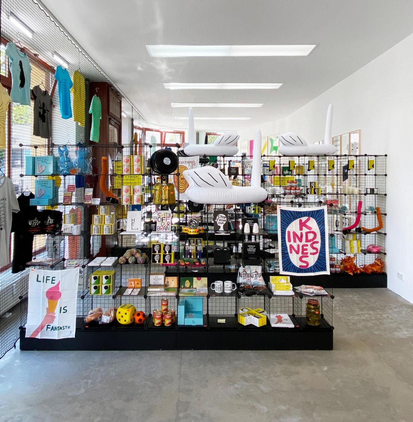 "Installation view, David Shrigley ""Very open, very closed"", BQ Berlin,  2020"