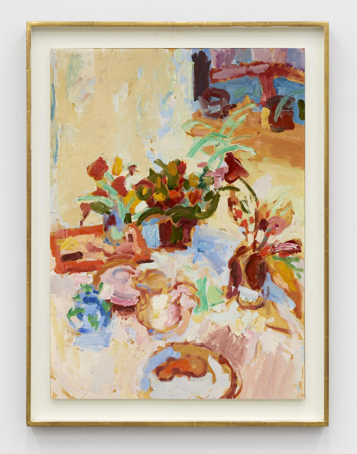 Nell Blaine,/Untitled/, 1957, oil on canvas laid to Masonite, 76.2 × 55.88  cm
