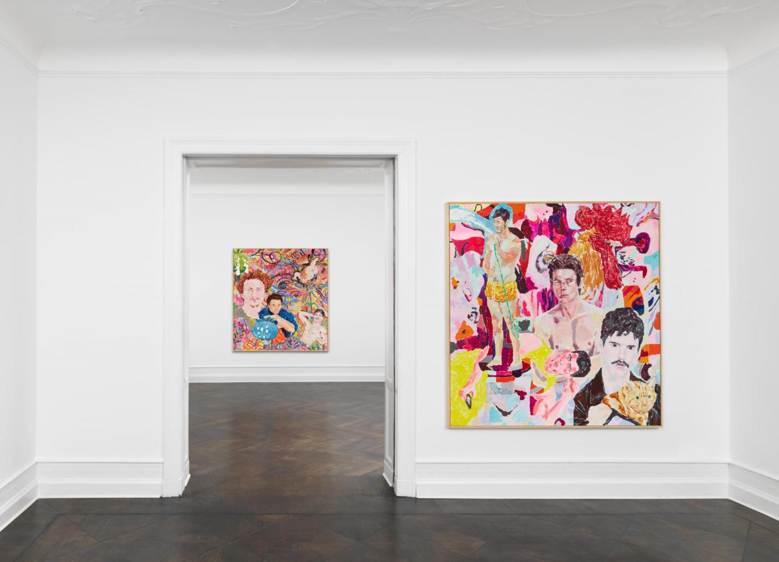 Installation view,Richard Hawkins,Galerie Buchholz, Berlin, 2020