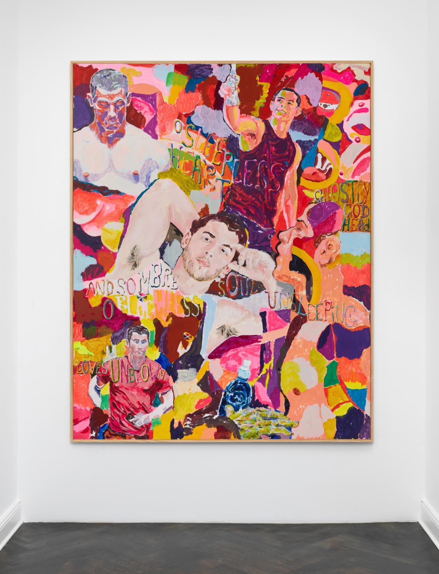 Richard Hawkins, /Sombre Soul Unsleeping/, 2020, acrylic on panel in artist  frame 223.5 x 178 x 5 cm