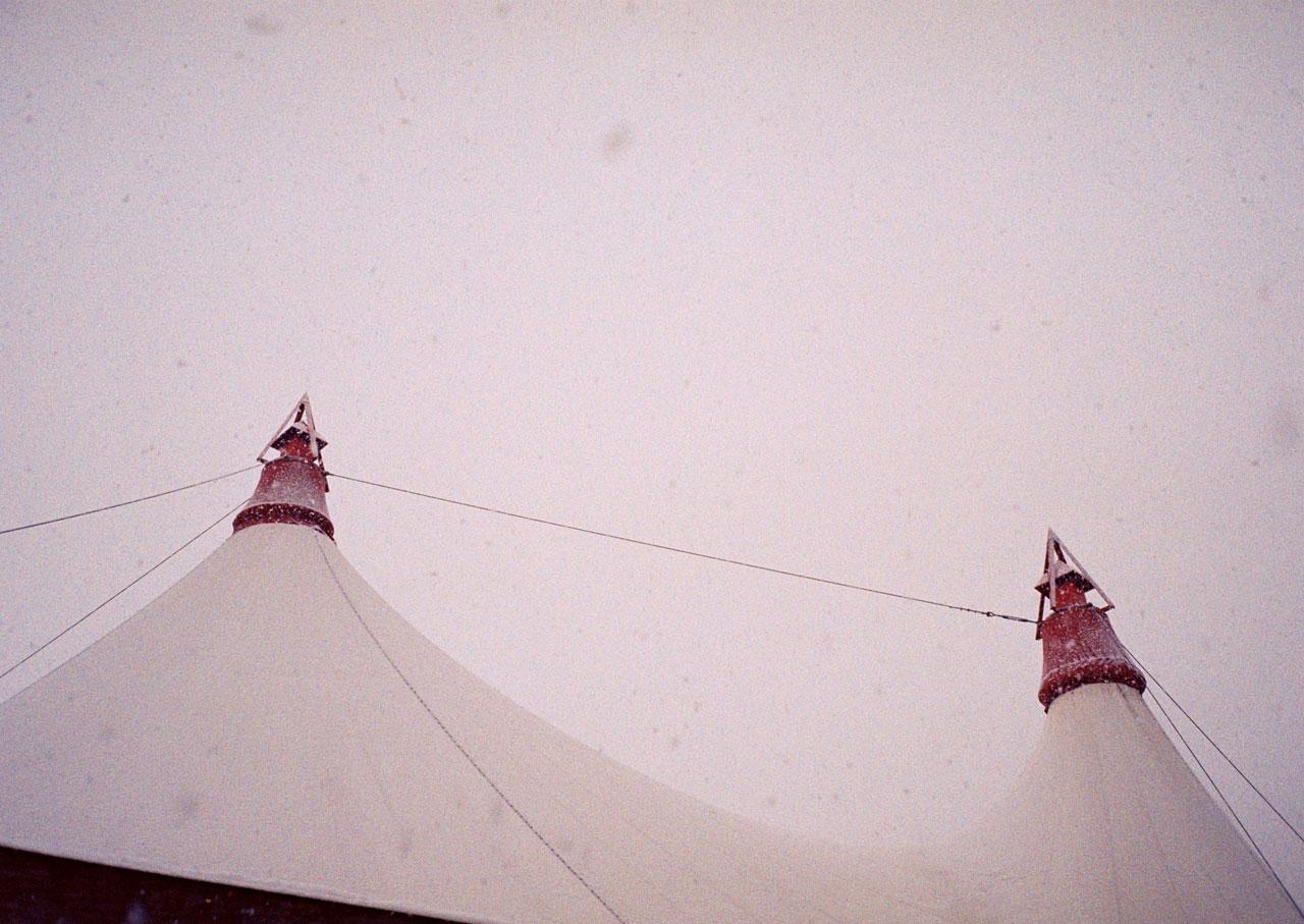 Menuhin Festivalzelt, location ofRyoji Ikedas installation