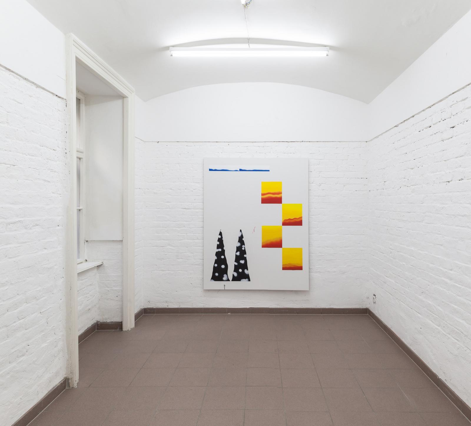 """Samuel Richardot """"Zweitaktgemisch"""" (2017); installation view at Vin Vin"""
