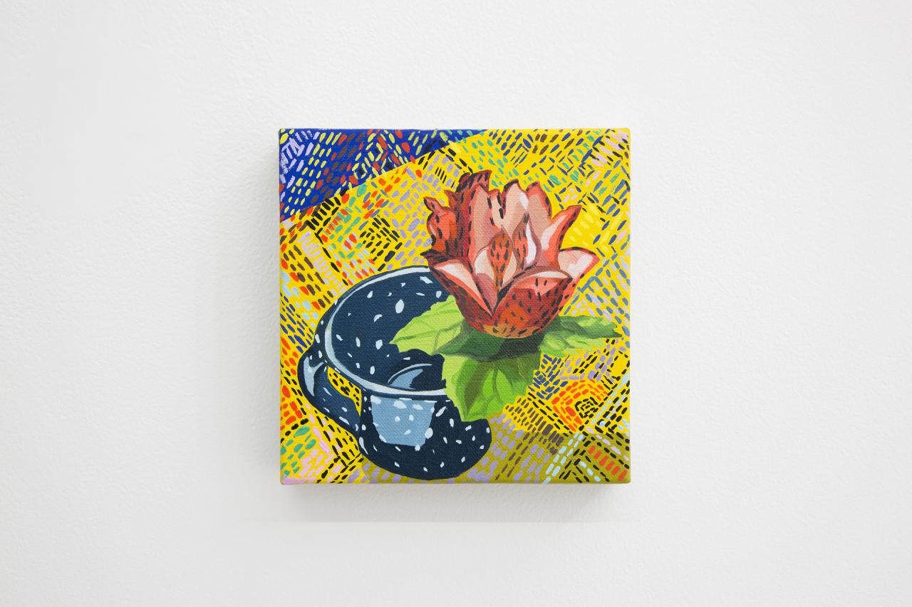 Aliza Nizenbaum Untitled (2018) Oil on canvas, 15 x 15 cm.