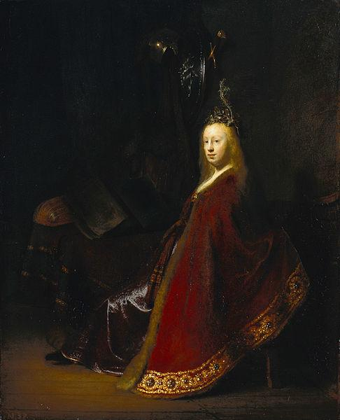 Rembrandt van Rijn's 1631 Minerva at the Gemaldegalerie