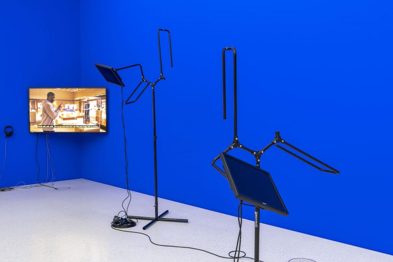 Sondra Perry Installation view at Westfälischer Kunstverein,Photo: Thorsten Arendt