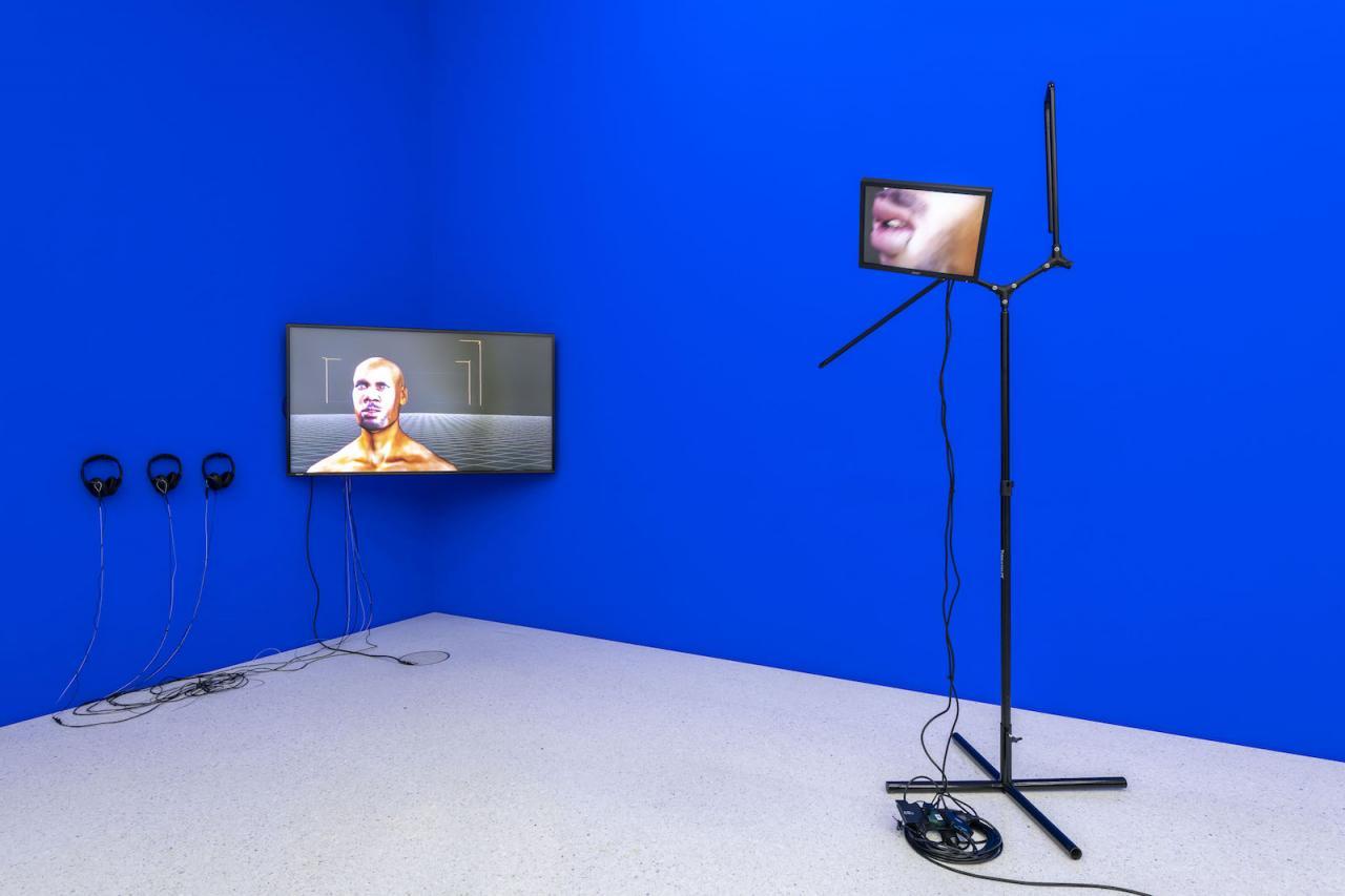 Sondra Perry Installation view at Westfälischer Kunstverein, 2018;Photo: Thorsten Arendt
