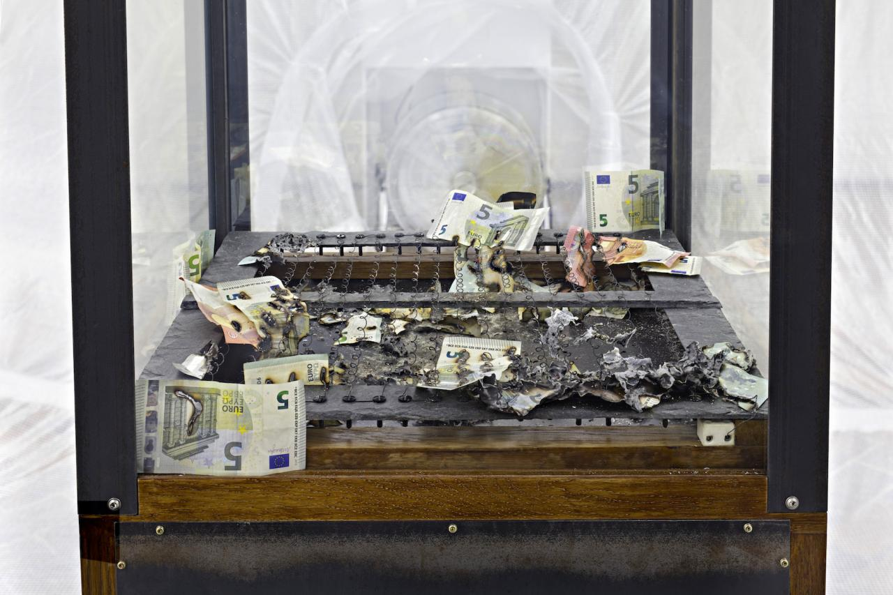 Distributed Gallery Chaos Machine (2018) Installation view, Detail, Proof of Work, Schinkel Pavillon, 2018 Photo: Hans-Georg Gaul