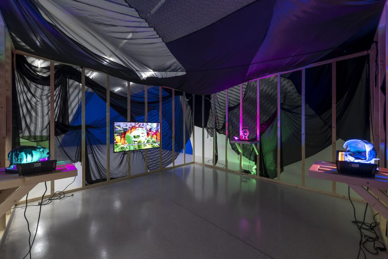 Andreas Angelidakis Installation view at Westfälischer Kunstverein, 2018;Photo: Thorsten Arendt