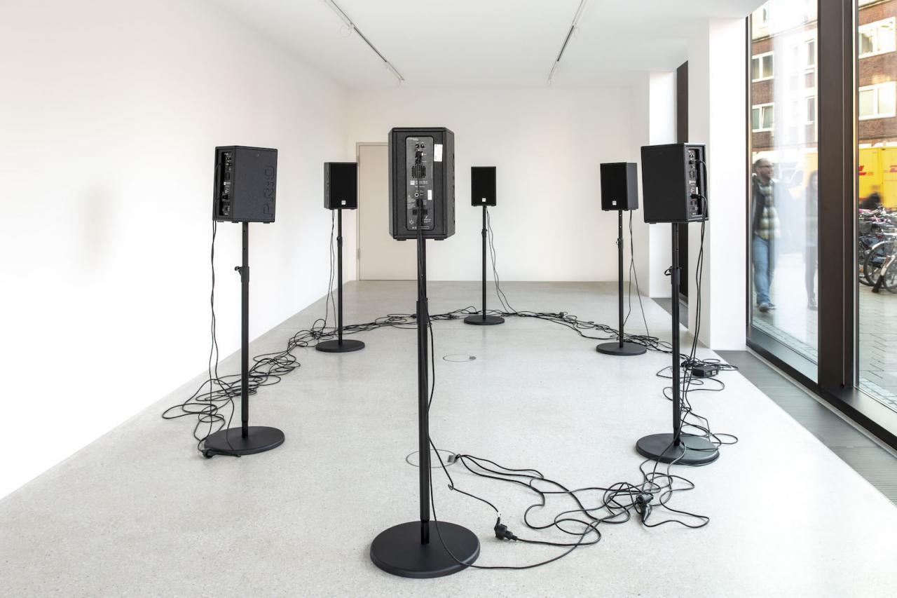 Hanne Lippard Installation view at Westfälischer Kunstverein,2018;Photo: Thorsten Arendt