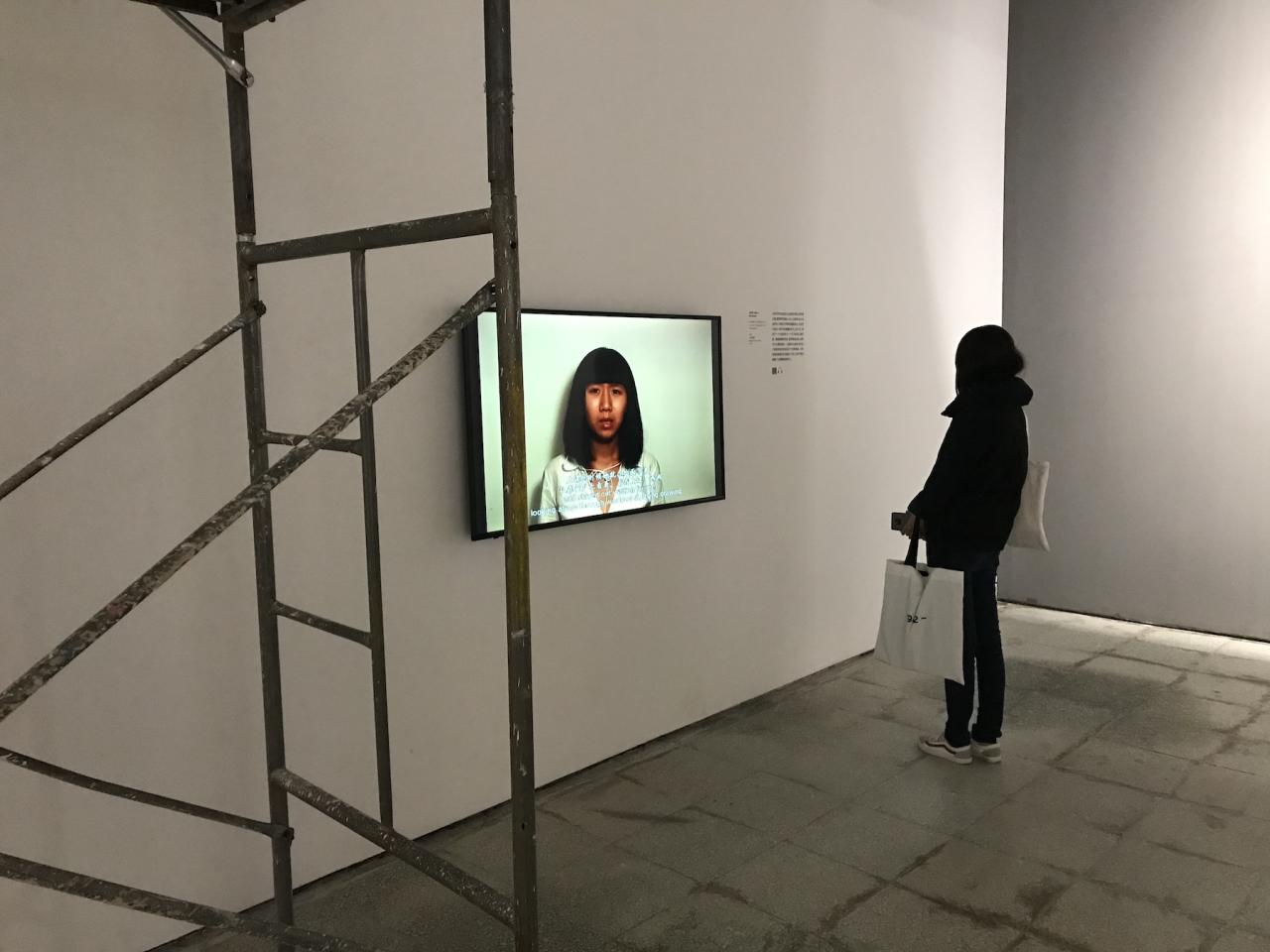 "Ma Qiusha Installation view of  From No.4 Pingyuanli to No.4 Tianqiaobeili  at ""China Landscape: Selections from the Taikang Collection"""
