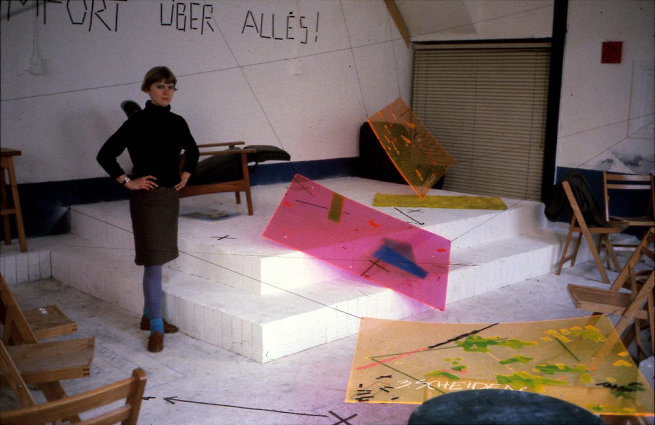"""Installation view of Installation """"Komfort Über Alles!""""(1980)in Salon O, Leiden (NL) CourtesyAMVK and Zeno X Gallery Antwerpen;Photo: Danny Devos"""