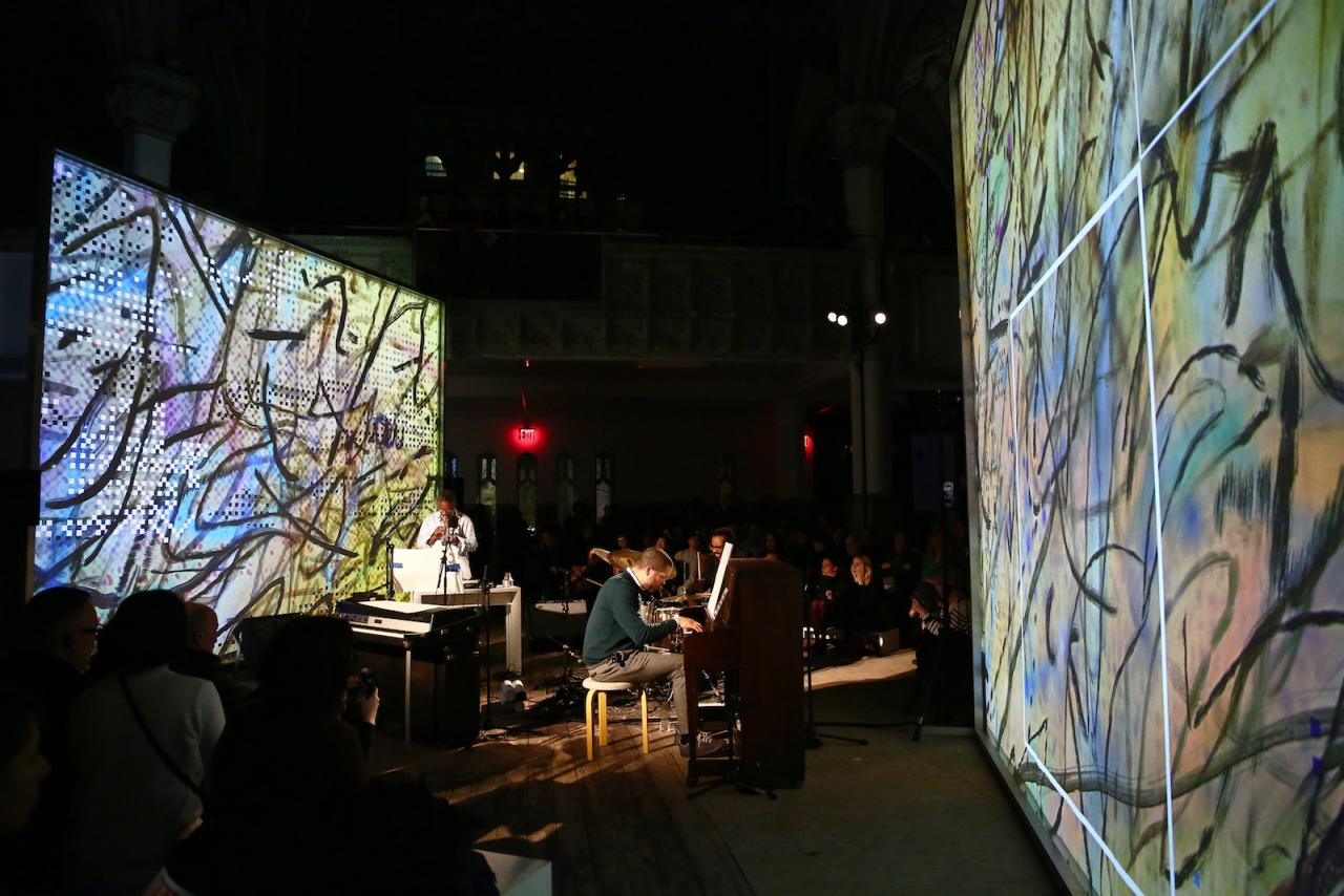 Julie Mehretu and Jason Moran MASS (HOWL, eon)  (2017) Performa 17 Commission Photo © Paula Court; Courtesy of Performa