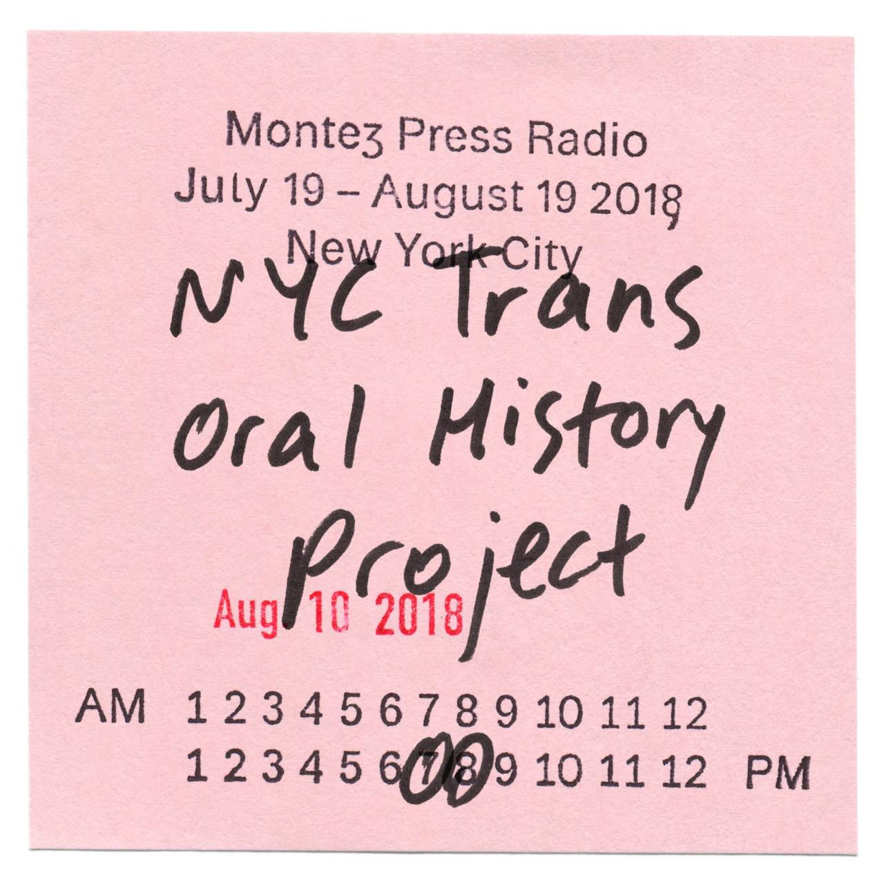 Flyer for Montez Press Radio