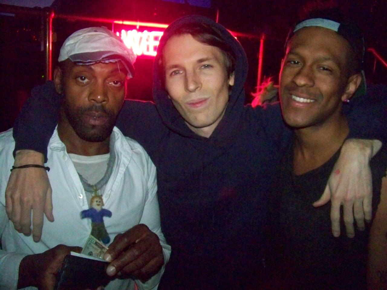 Andre Walker, Ryan McGinley and Mykki Blanco, photo © Quentin Belt