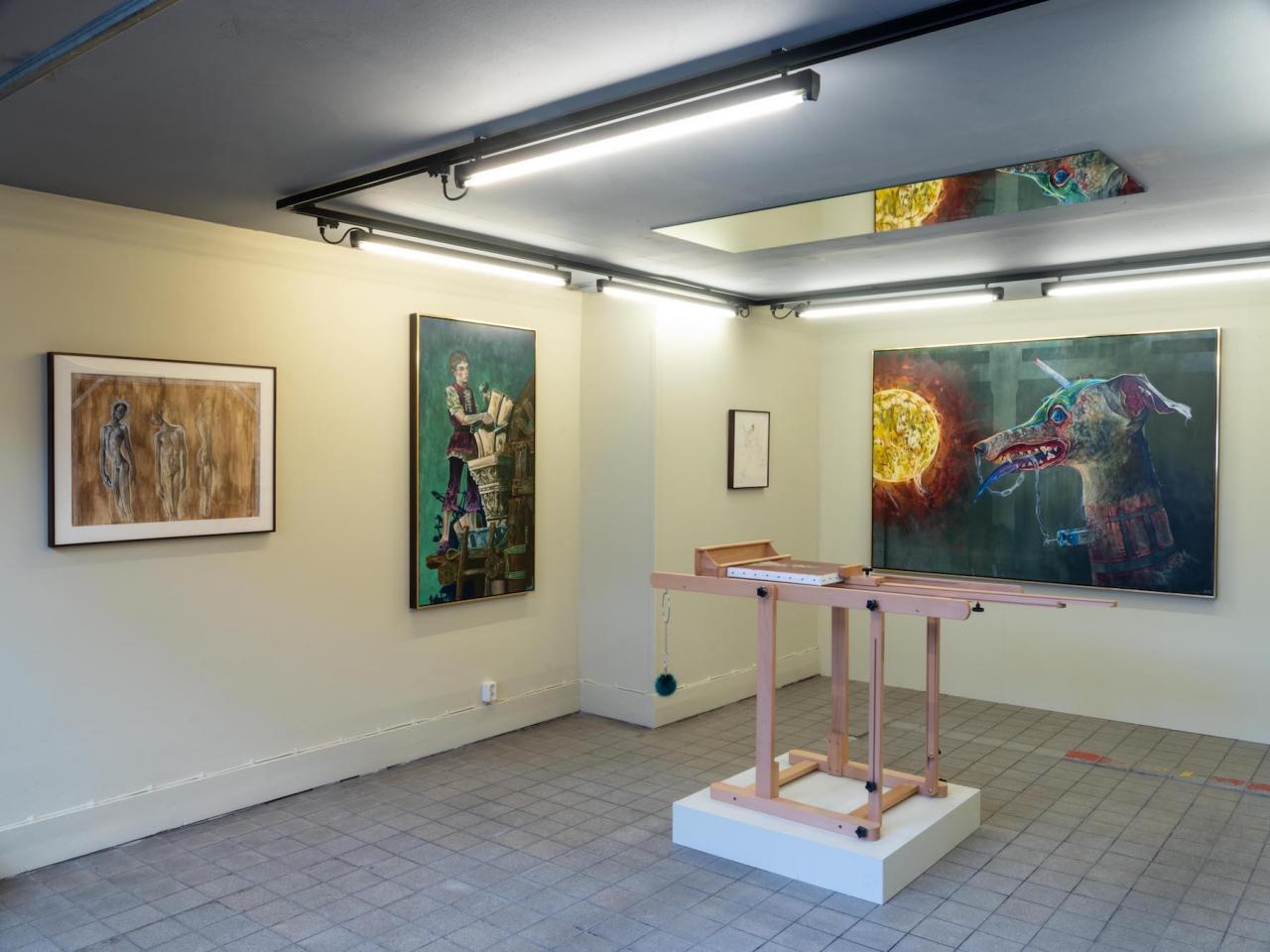 "Exhibition view of Kye Christensen-Knowles, ""Energumen"",at Rehnsgatan 3"