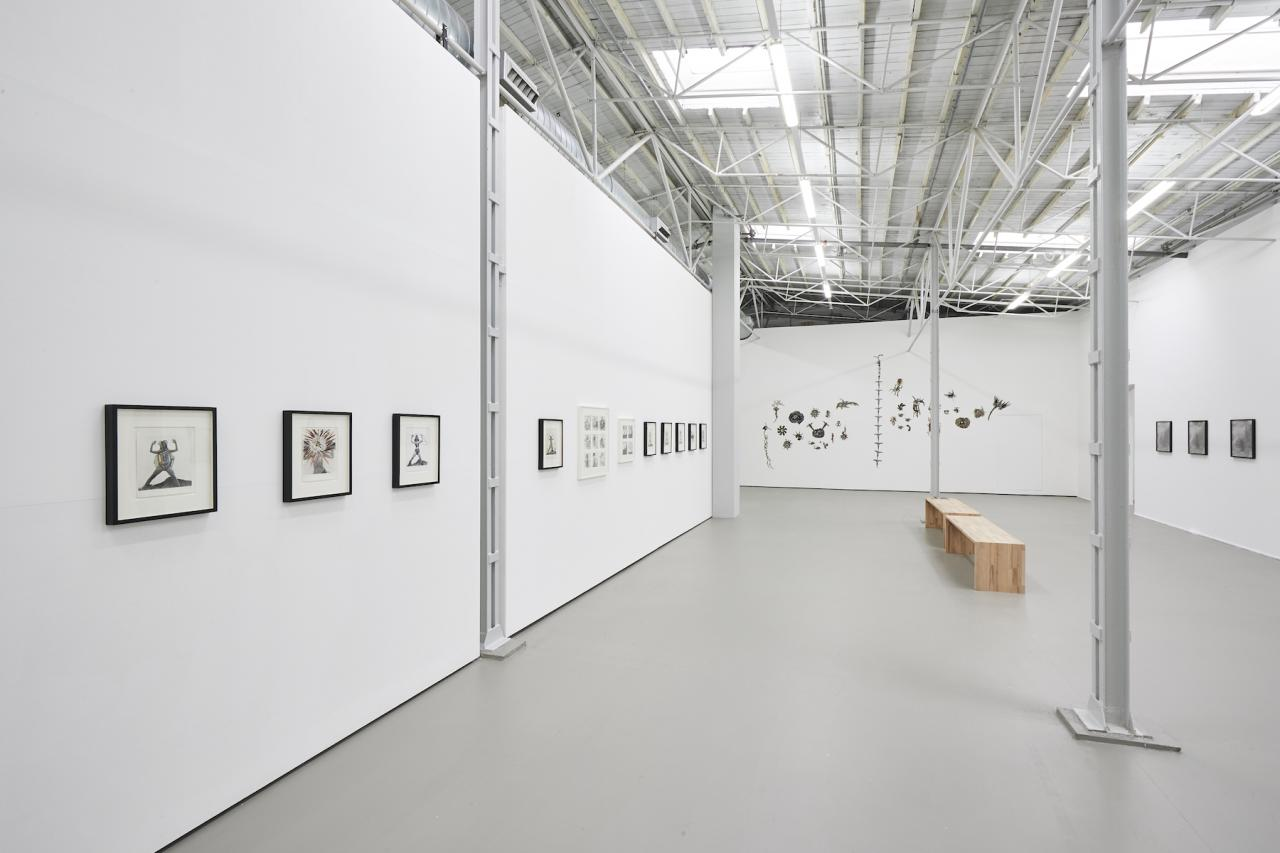 "Mary Beth Edelson ""Nobody Messes with Her"", Exhibition view Photo: Volker Renner"