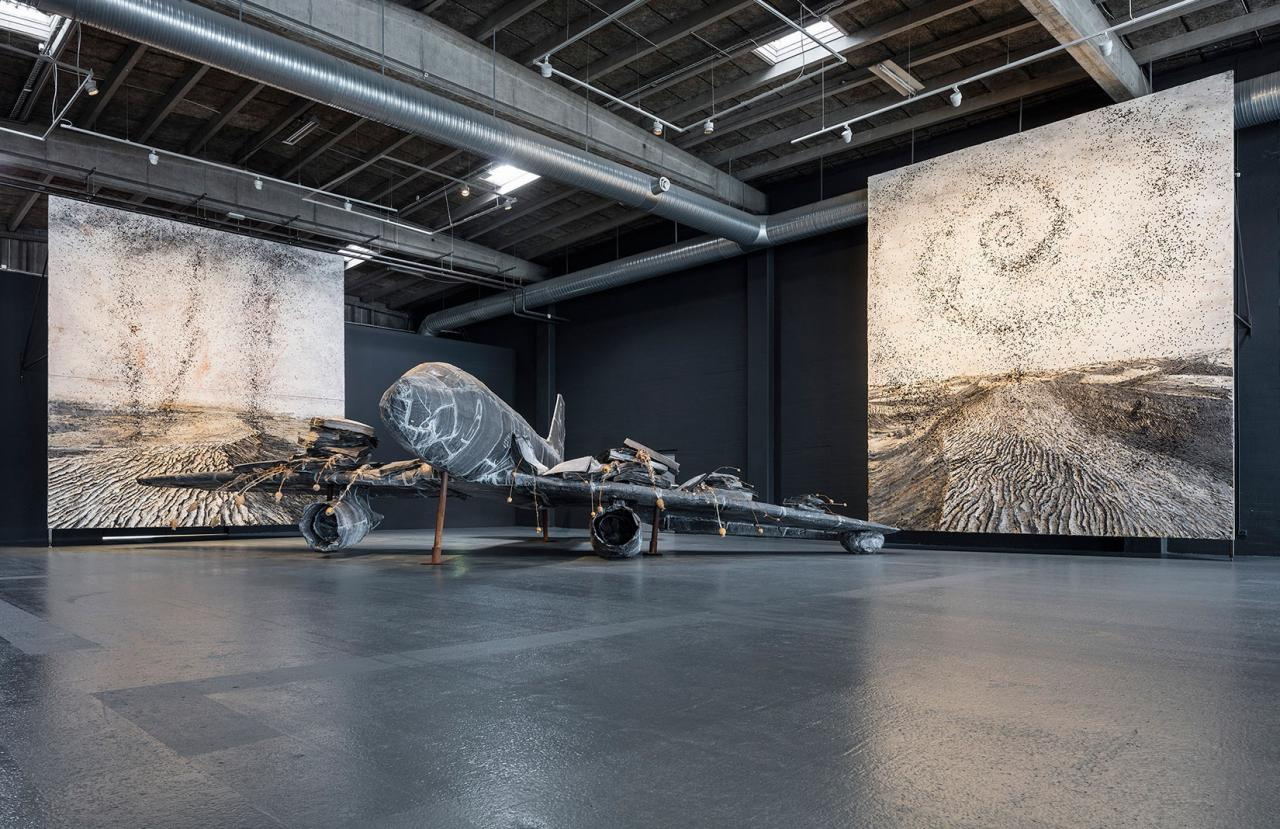 Anselm Kiefer For Louis-Ferdinand Céline: Voyage au bout de la nuit, installation view at Copenhagen Contemporary 2017