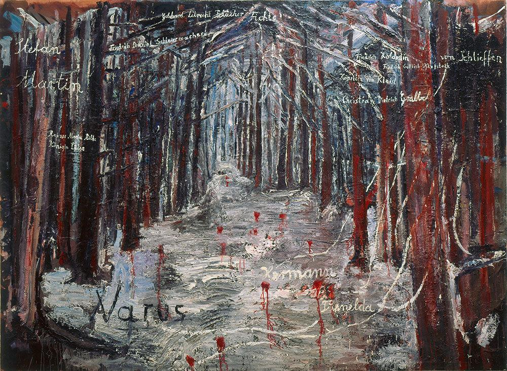 """Anselm Kiefer Varus (1976) In Book 2 Knausgårdwrites about the painting: """"It's the greatest work of art since the war, perhaps in the whole of the previous century."""""""