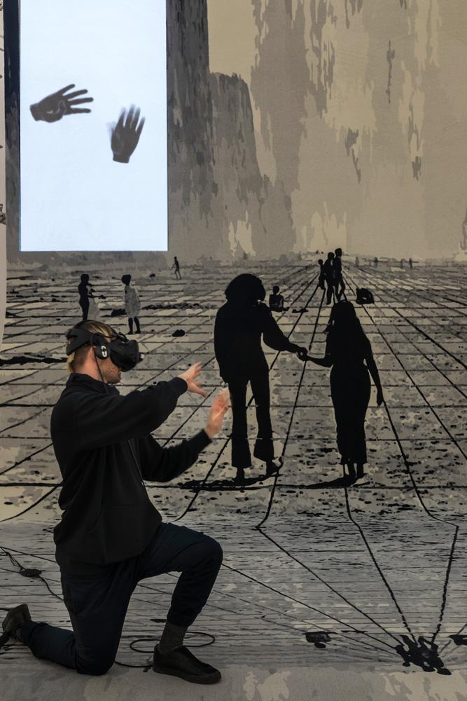 Florian Meisenberg Pre-Alpha Courtyard Games (2017), Installation view Zeppelin Museum Photo: Tretter