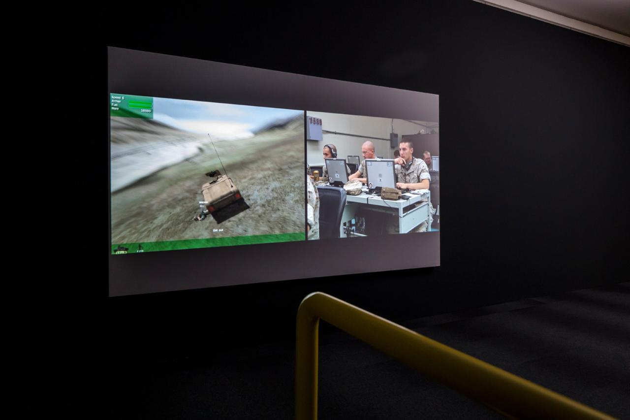 Harun Farocki Serious Games I: Watson is down (201o), Installation view Zeppelin Museum Photo: Tretter
