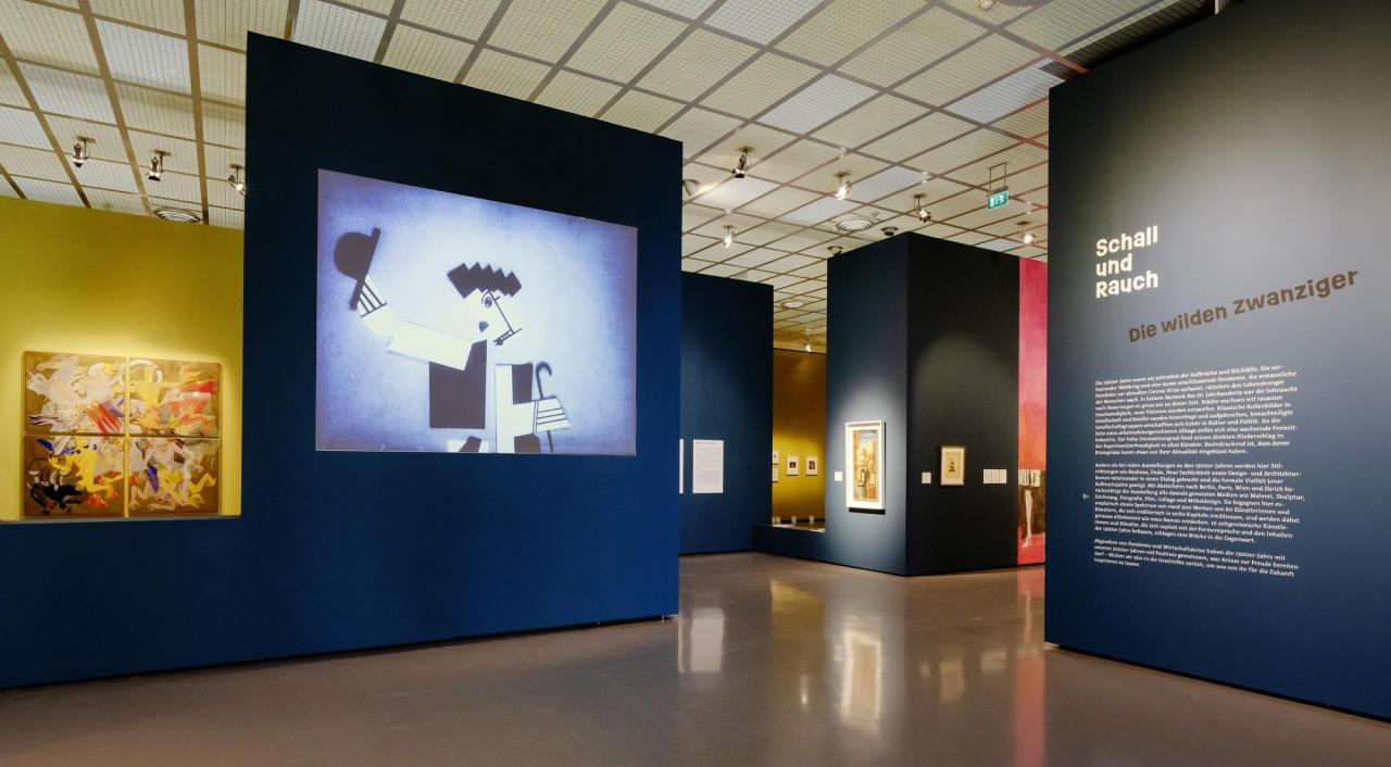 "Installation view, ""Smoke and Mirrors. The Roaring Twenties"", Kunsthaus Zürich, 2020; Photo © Franca Candrian"