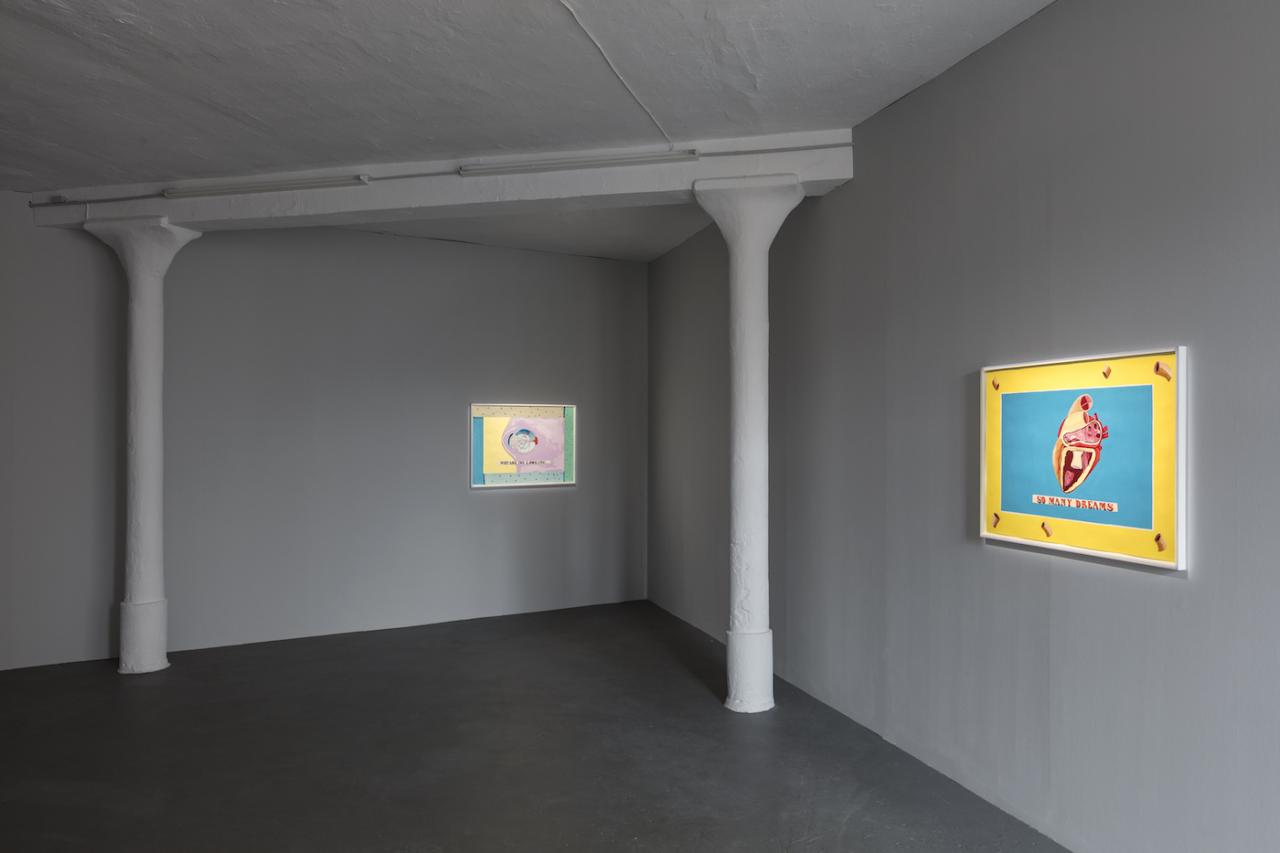Lubaina Himid Left: Why are you looking? ( 2018) Right: So many dreams (2018)