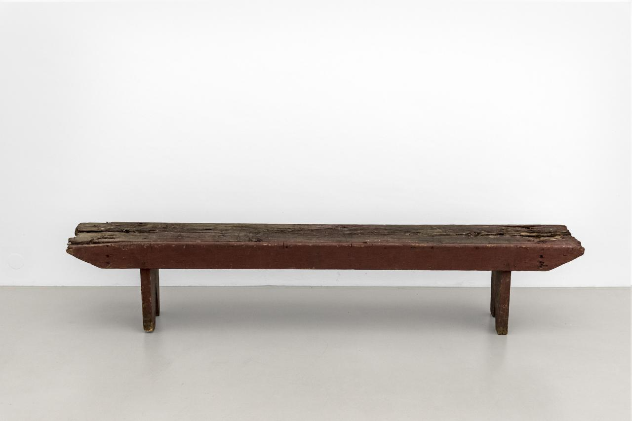 "Bench,  Laurie Parsons,""A Body of Work 1987"", Museum Abteiberg, 2018-19, exhibition _______INSERT_______"