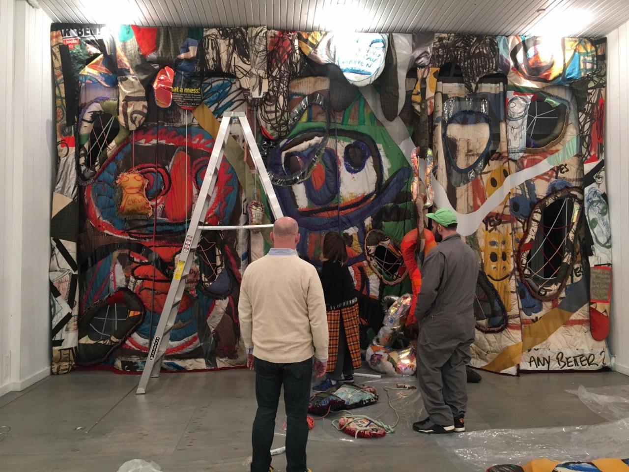 Installing a Bjarne Melgaard show at Karma NYC.