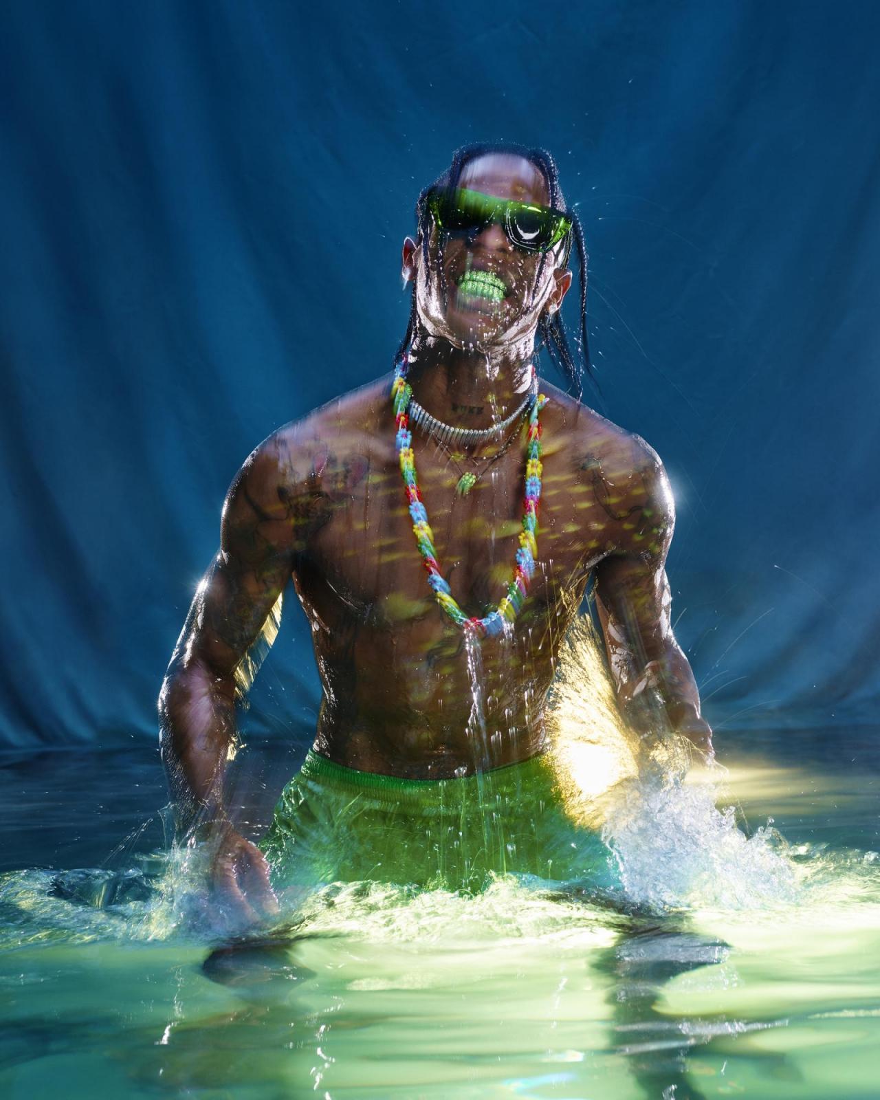 Travis Scott photographed by David LaChapelle forBottega Veneta Issue 02.
