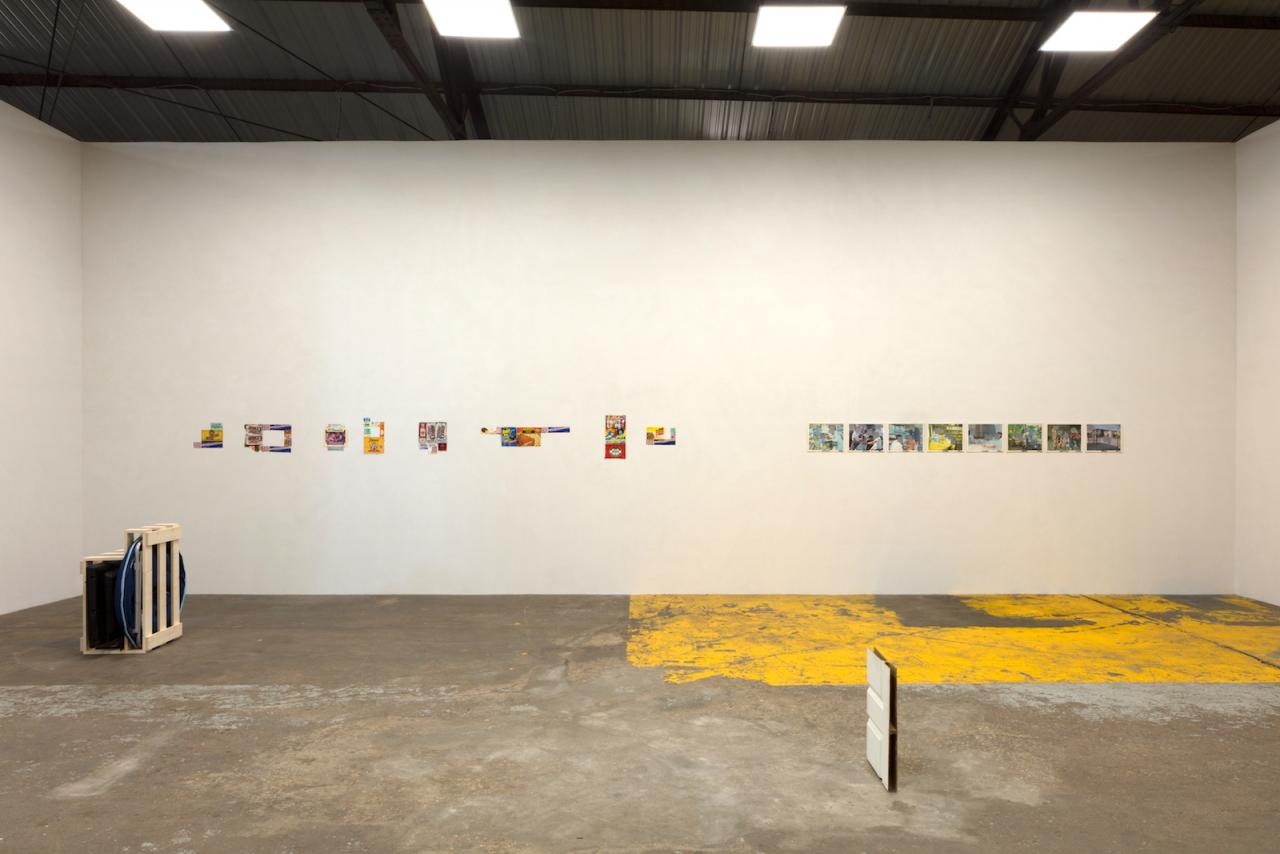 Ludwig Schwarz installation view at the The Box Co. Left wall: Untitled (1995-1997) Right wall:No title, (circa 2000) Sculpture: Untitled (Still life.) (2017) Photo: Kevin Todora