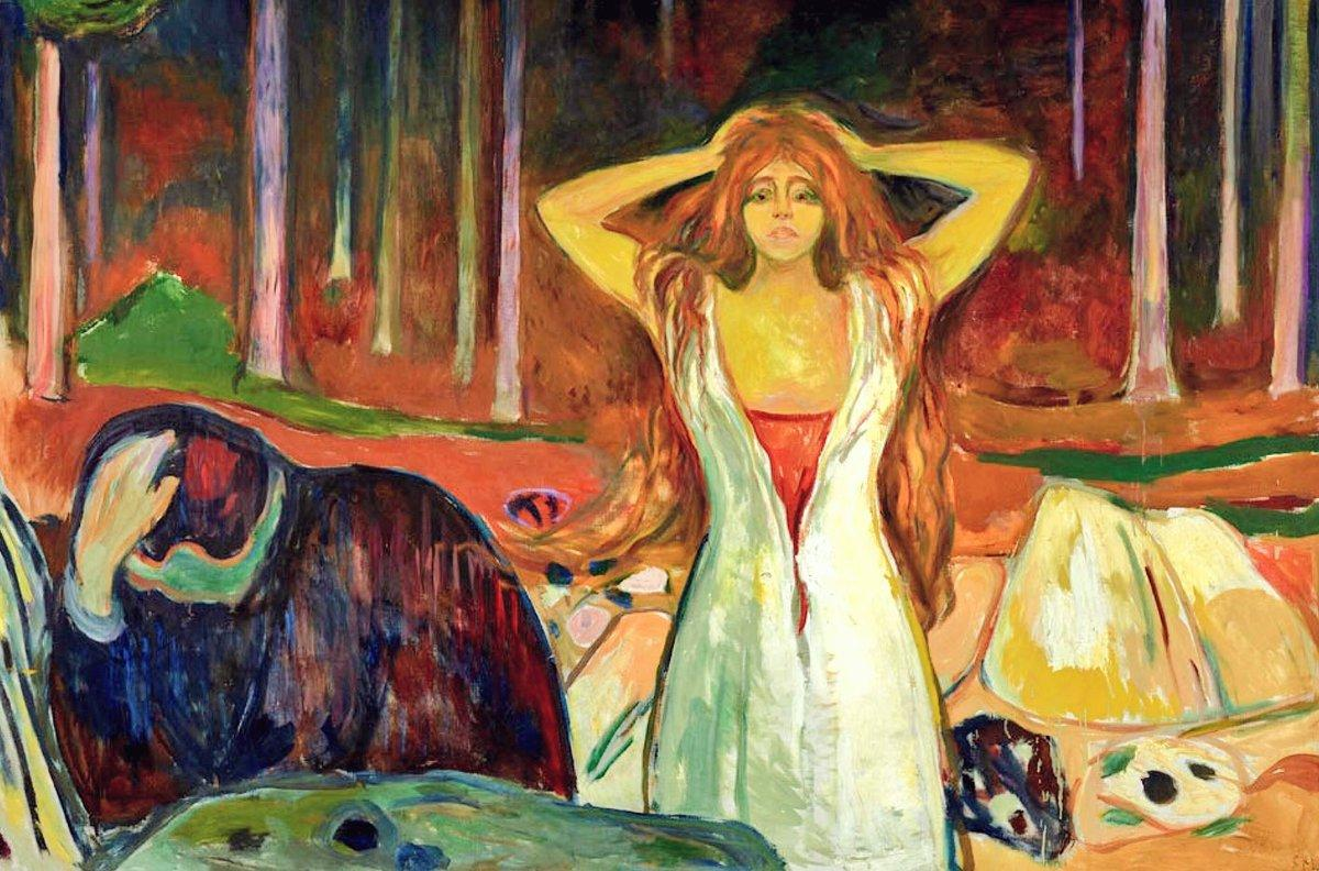 Edvard Munch Ashes  (1925)