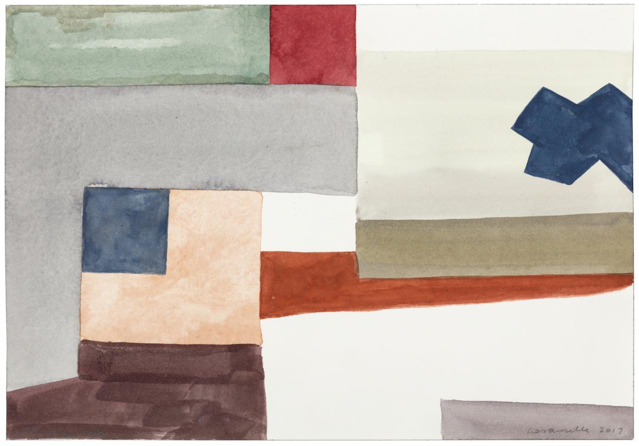 Ernst Caramelle Spaceholder (2017) watercolor on paper, mounted on cardboard 18 x 26 cm Photo: Markus Wörgötter;Courtesy Galerie nächst St.Stephan Rosemarie Schwarzwälder
