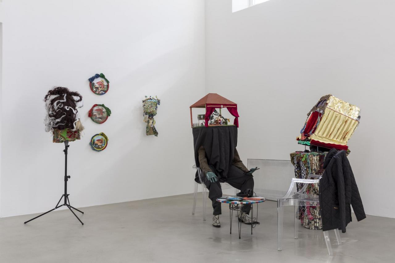 "IInstallation view, Laura Ziegler and Stephan Janitzky in ""Not Working – Artistic production and matters of class"", Kunstverein München, 2020. Courtesy Kunstverein München e.V.; Photo: Sebastian Kissel"