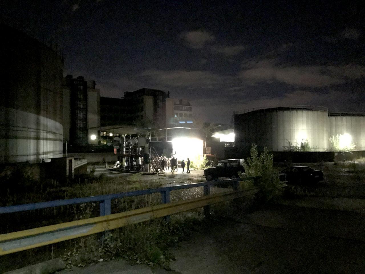 Reinigungsanlage für radioaktiv verseuchte LKWim anderen Charlottenburg