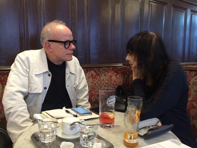 Friederike Mayröcker with Hans-Ulrich Obrist, Café Pückler, Vienna